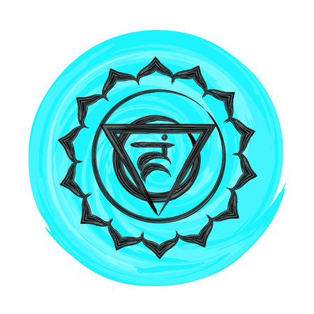 vishuddha: Vishuddha chakra vector illustration