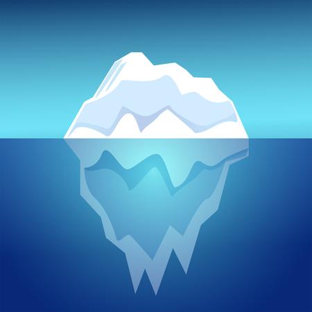 invisible: Iceberg vector  illustration. Illustration
