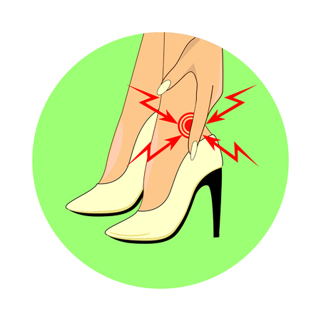 high damage: Location of pain on foot from wearing high heels
