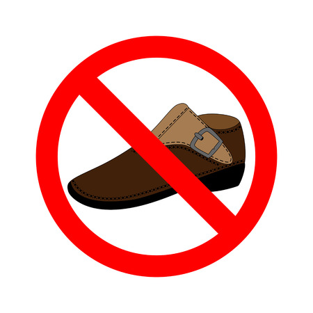 Sign No Shoes Vector Illustration