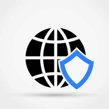Global security concept vector illustration.