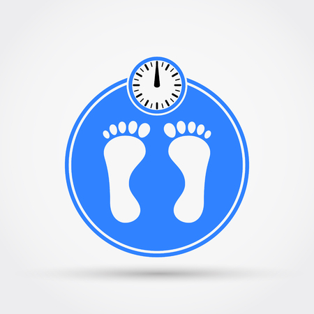 Weight scale icon. Vector illustration. Illustration