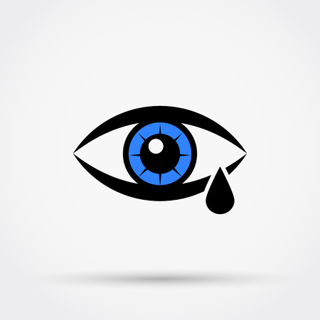 Tear cry eye vector icon vector illustration. Ilustrace