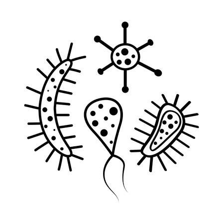 Bacterial cells vector illustration. Illustration