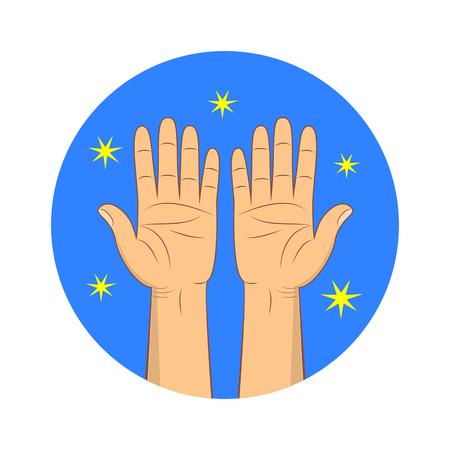 Clean hands vector icon.