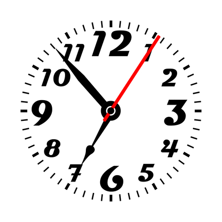 Clock face vector illustration.
