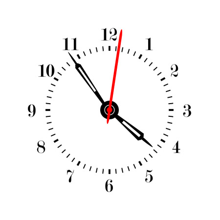Clock face vector illustration. Vektorové ilustrace
