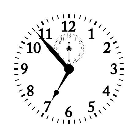 pm: Clock face vector illustration.
