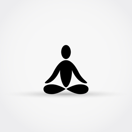 aura energy: Yoga or meditation icon.