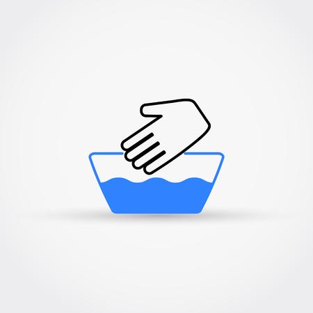 Handwash vector icon vector illustration. Çizim