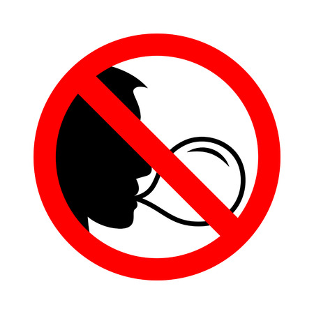 No chewing gum sign vector illustration.