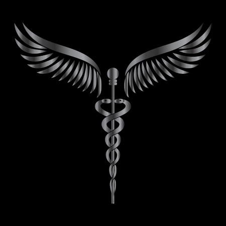 Caduceus - medicine symbol vector illustration.