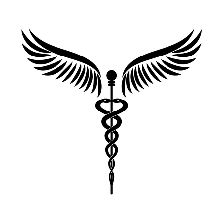 Caduceus - medicine symbol vector illustration.