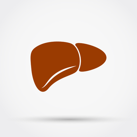 Liver icon illustration. Illustration