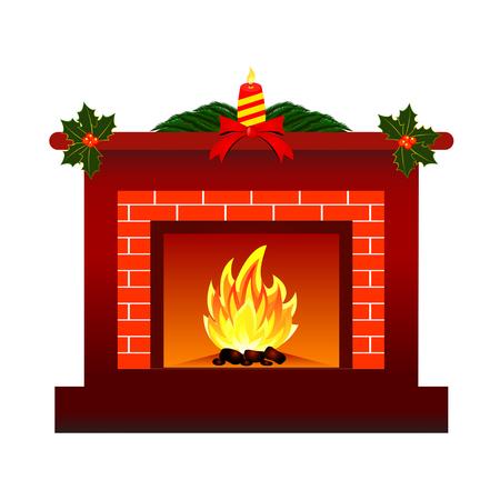 Fireplace design. Illustration