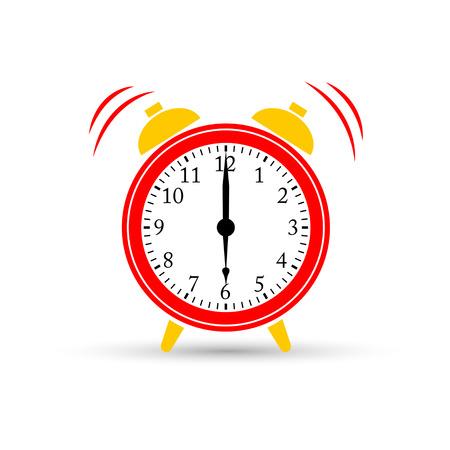 起きてください。目覚まし時計アイコン、ベクトル図です。