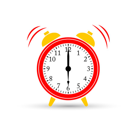 Wake up. Alarm clock icon, vector illustration. Ilustração
