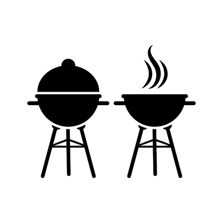 Barbecue grill Vector illustration isolated on white background. Illustration