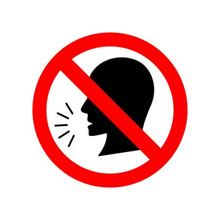 Stop talking vector sign.