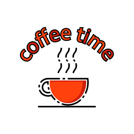 Coffee time. Vector illustration.