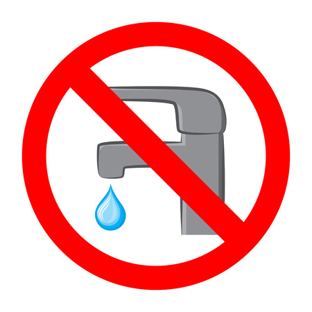 Save water sign faucet icon. Simple flat vector illustration.