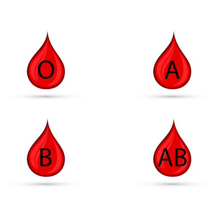 Blood types vector icons.
