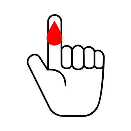 Blood test medical icon vector illustration.