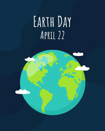 Earth Day concept. Vector illustration