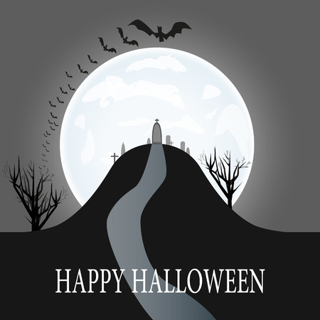 Illustration of a Halloween Background
