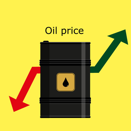 Barrel of oil and oil price.