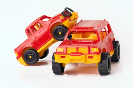 Two toy cars, isolated on a white background. Stock Photo - 6541785