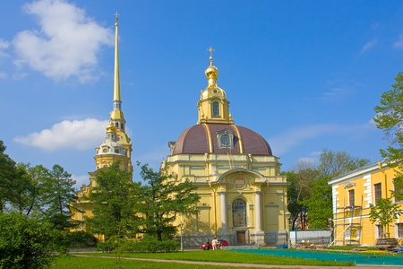 View of  Grand Ducal Burial Vault in  Peter and Paul Fortress, Saint Petersburg, Russia. Stock Photo - 8704965