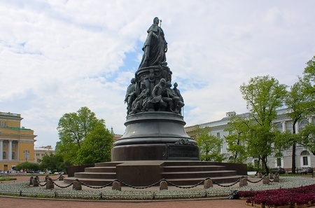 Monument to Catherine  the Great against  sky,Saint Petersburg, Russia. Stock Photo - 8803472