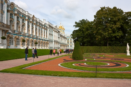 catherine: View of Catherine Park and building of Catherine Palace, Tsarskoye Selo, Russia