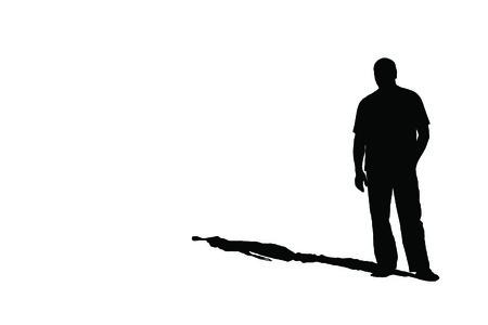 ホワイト、JPEG に影で孤独な男のシルエット