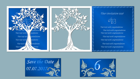 Invitation and greeting card the trees