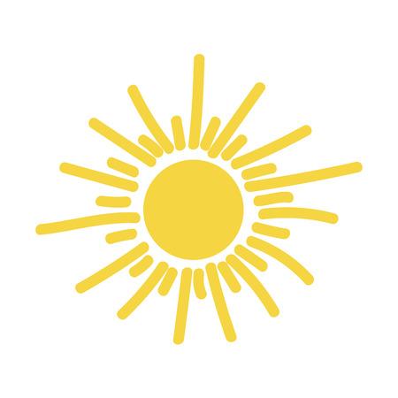 Sun icon vector illustration isolated on plain background.
