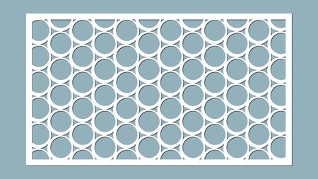 Decorative panel lines, circles, balls, laser cutting. Stock Illustratie