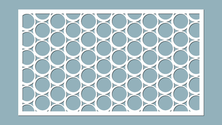Decorative panel lines, circles, balls, laser cutting. Vectores