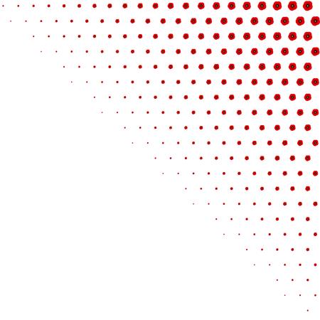 Poppy pattern. Red poppies on white background. Vector illustration