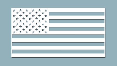 paper art carve flag, vector, illustration. USA flag. Laser cutting