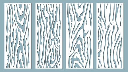 Vektor-illustration Dekorplattenlinien, Laserschneiden. Holzplatte schneiden.