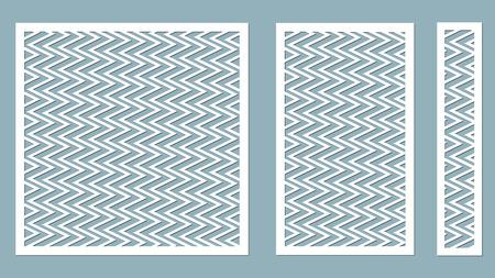 Vector illustratie. Decoratieve paneellijnen, lasersnijden. decoratieve randenpatronen. Afbeelding geschikt voor lasersnijden, plotter snijden of printen. plotter en zeefdruk. zeefdruk.