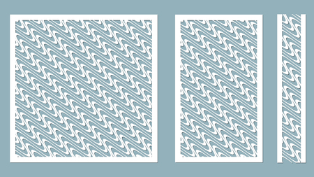 Vector illustration. Decorative panel lines, laser cutting. decorative borders patterns. Image suitable for laser cutting, plotter cutting or printing. plotter and screen printing. serigraphy. Stock Illustratie