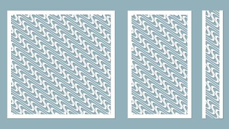 Vector illustration. Decorative panel lines, laser cutting. decorative borders patterns. Image suitable for laser cutting, plotter cutting or printing. plotter and screen printing. serigraphy. Illustration