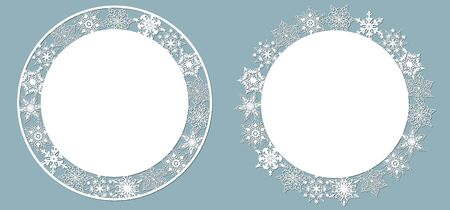 paper napkin under the cake or dish. Laser cut. Set template for laser cutting and Plotter. Vector illustration. Pattern for the laser cut, plotter and screen printing