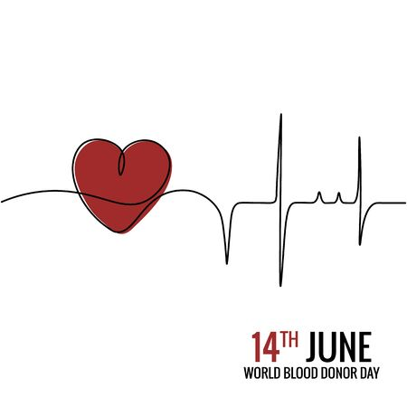 14th June,World Blood donor Day Illustration Of Blood Donation Concept Design....