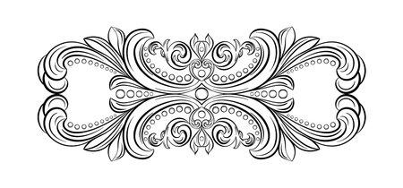 Stucco frame. Moldings stucco pattern