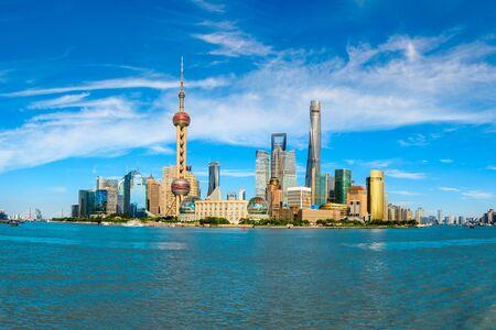 Słynny zabytkowy krajobraz architektoniczny w Szanghaju
