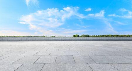 Empty square platform and woods background landscape Reklamní fotografie